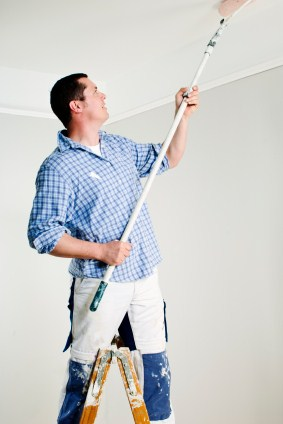 Painter painting ceiling.